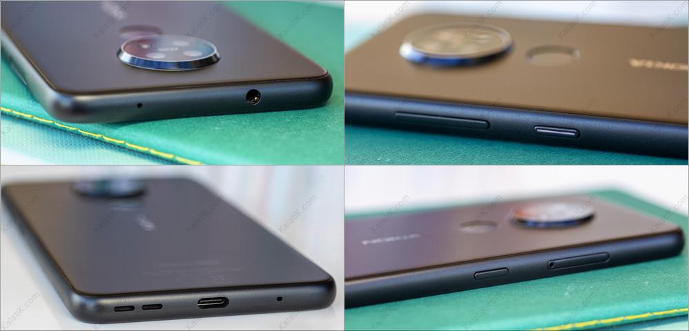 طراحی و کیفیت ساخت گوشی nokia 7.2