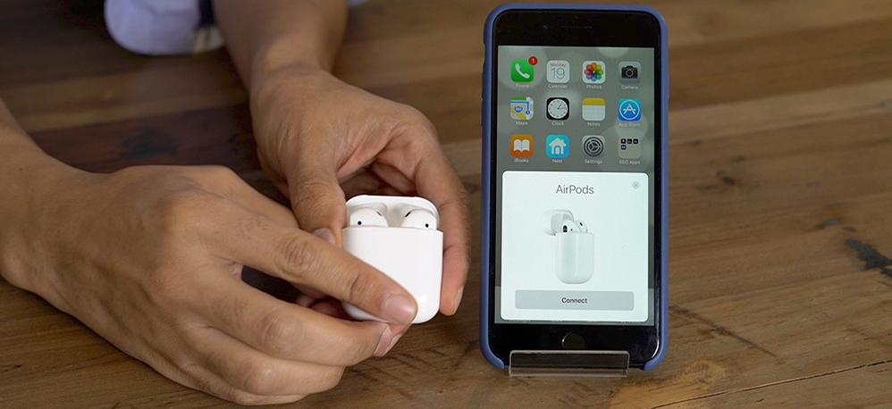 نحوه اتصال ایرپاد اپل apple air pod